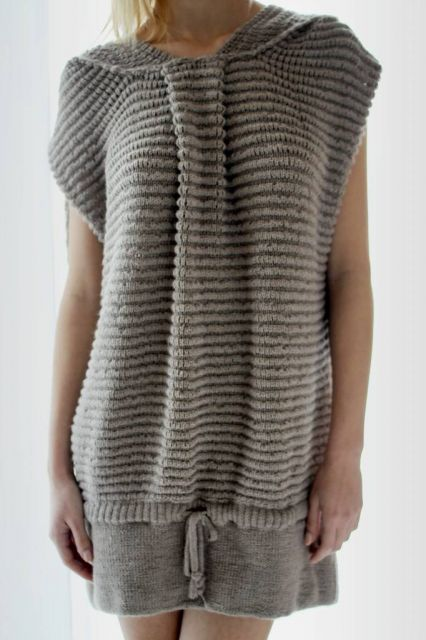 Vestido de trico confortável cinza