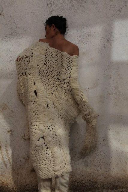 Vestido de tricô fashion