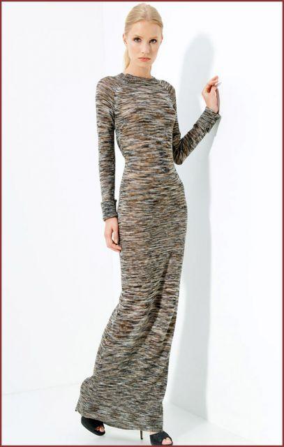 Vestido de trico mesclado