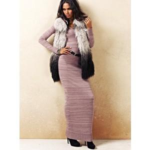 Vestido de tricô com colete