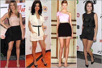 eeeb7d66f2c 4 celebridades desfilando modelos charmosos de vestido esporte fino em  cores neutras