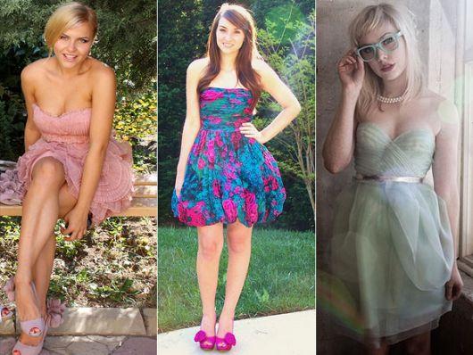 Como escolher modelos de vestido esporte fino romântico: rosa, verde água ou azul com pink.