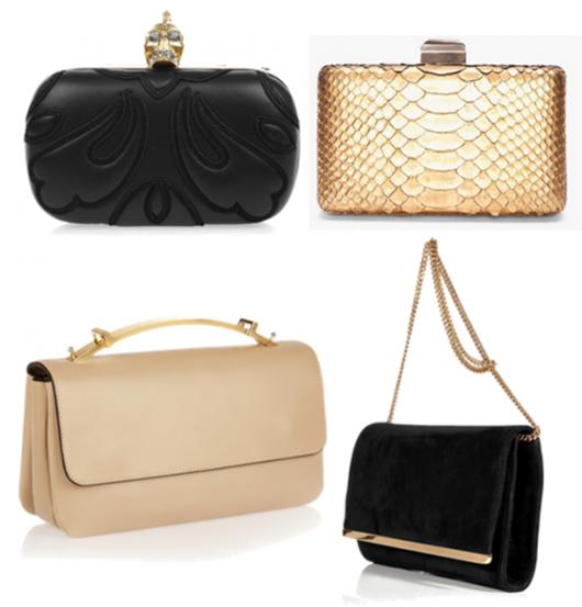 Escolha seus acessórios para combinar com vestido esporte fino: Bolsas pequenas de cores neutras