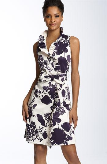 estampa floral em vestidos para trabalhar