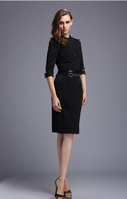 vestidos para trabalhar de manga comprid