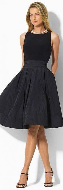vestidos para trabalhar com saia larga