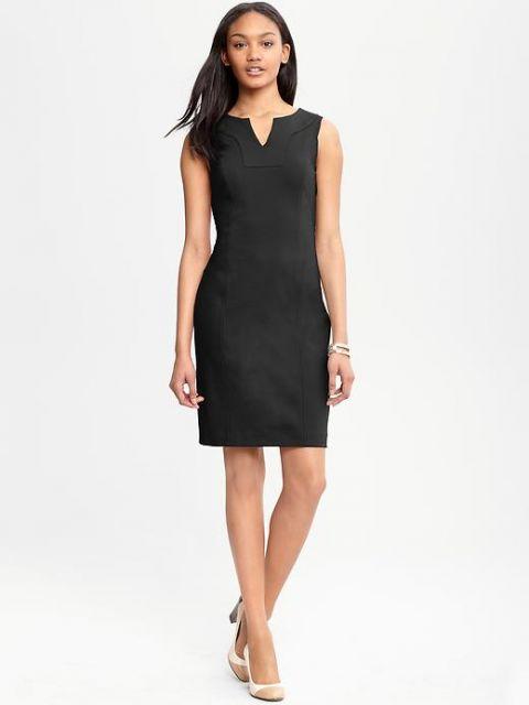 vestidos para trabalhar preto basico