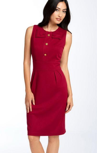 vestidos para trabalhar tubinho vermelho