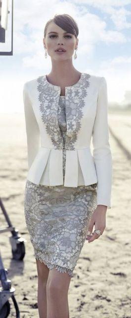 vestido com terninho