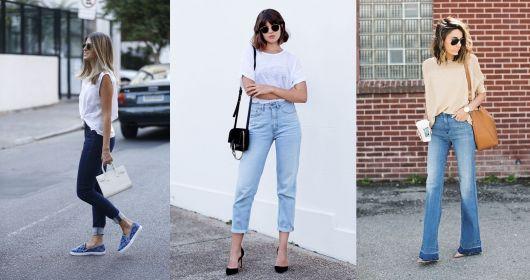 Estilo casual calça jeans