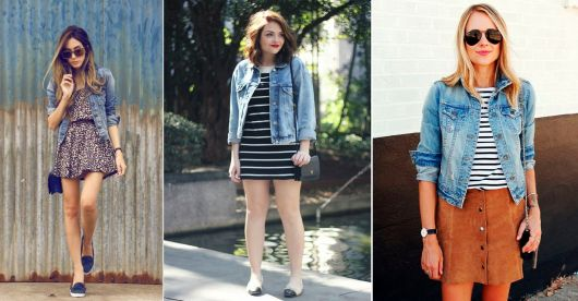 Estilo casual jaqueta jeans