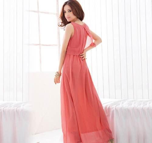 Vestido vermelho rosado2