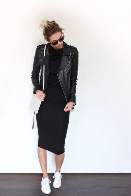 Look preto vestido lápis