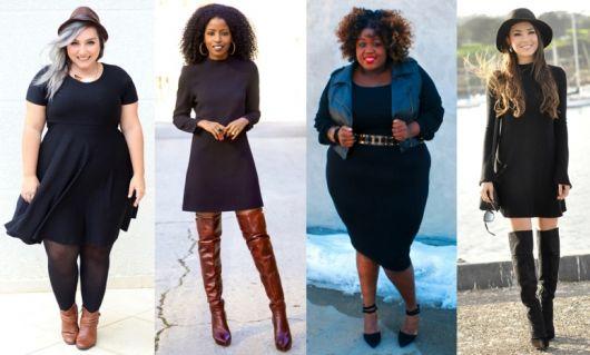 Look preto vestidos
