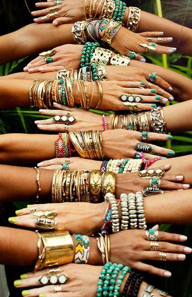Moda hippie acessórios pulseiras