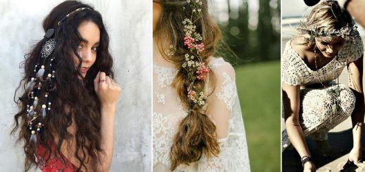 Moda hippie cabelos