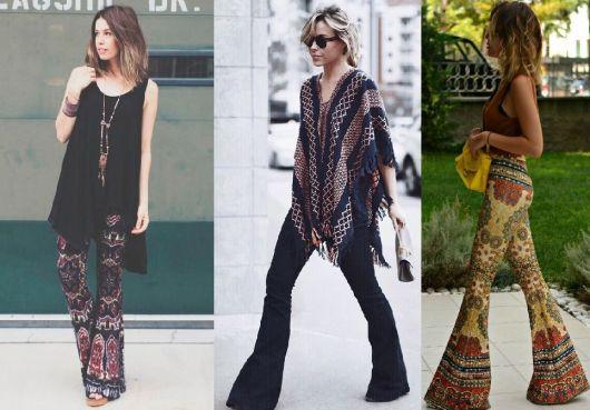 Moda hippie calças