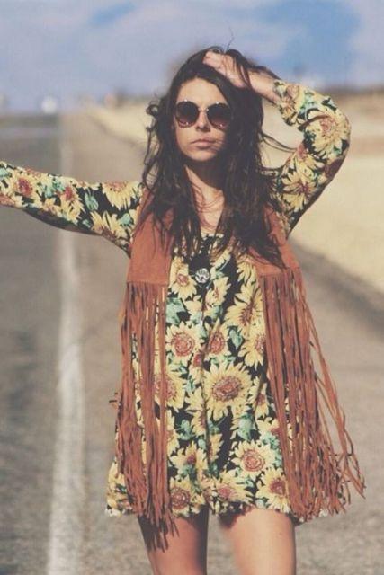 Moda Hippie Feminina Inspire Se Com Modelos E Looks Lindos