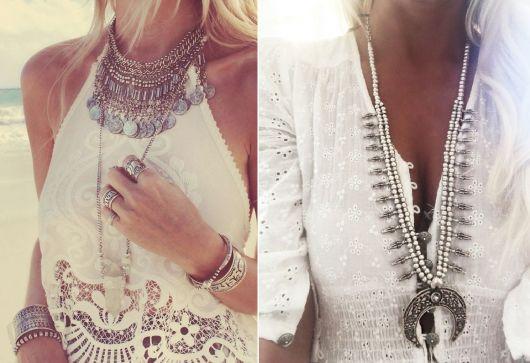Moda hippie colares