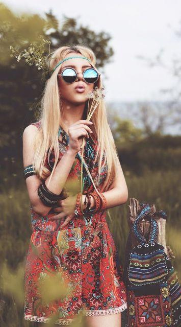 Moda hippie flor