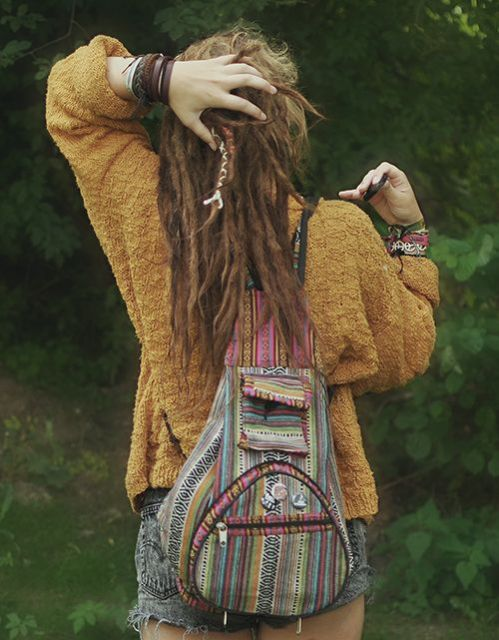 Moda hippie mochila