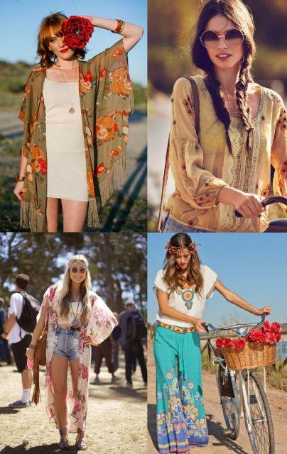 Moda hippie modelos