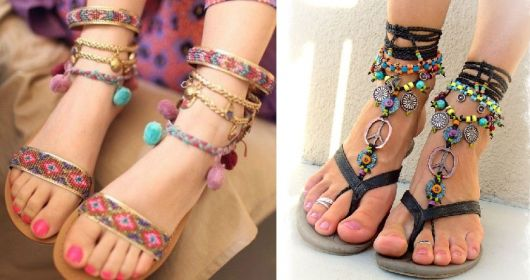 Moda hippie pés