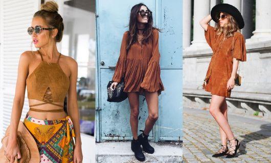 Moda hippie suede