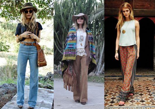 Moda hippie tipos de calças