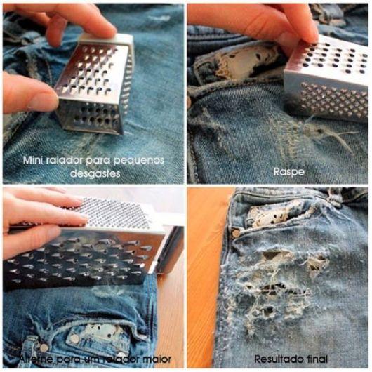 Дизайн джинсов рваные