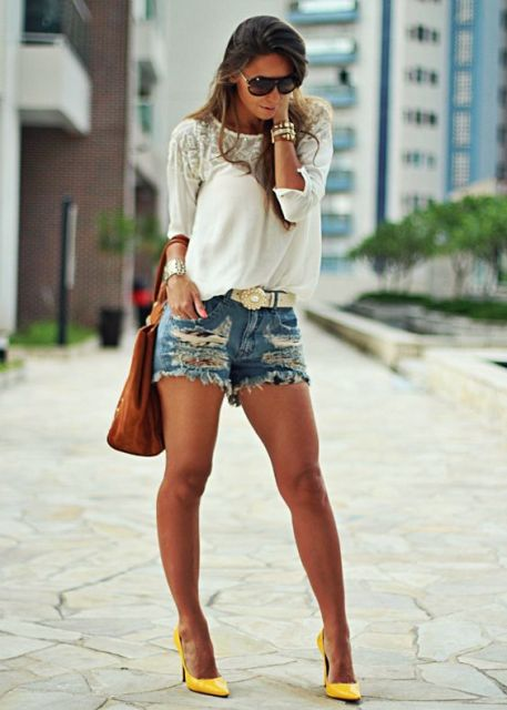 Short destroyed - look com cinto