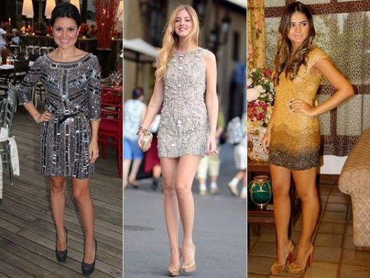 Vestidos de gala curto brilho