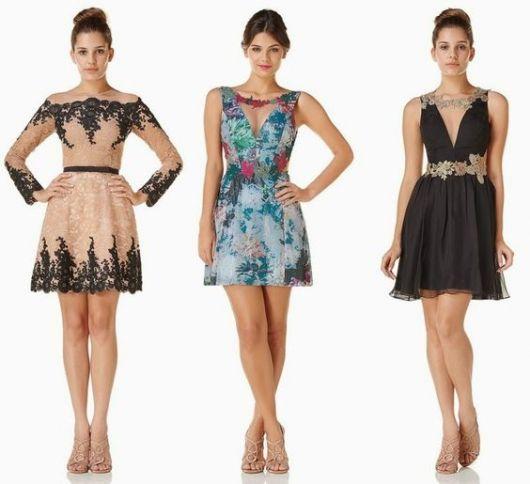 Vestidos de gala curto looks