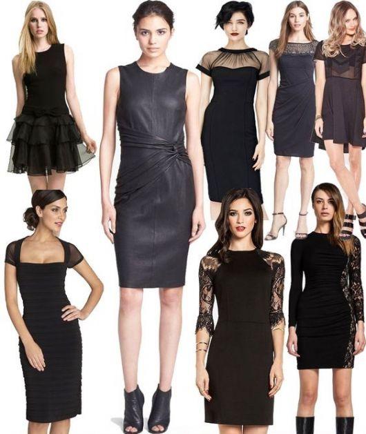 Vestidos de gala curto pretos