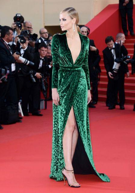 Vestidos de gala onça verde