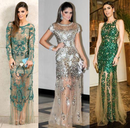 Vestidos de gala renda