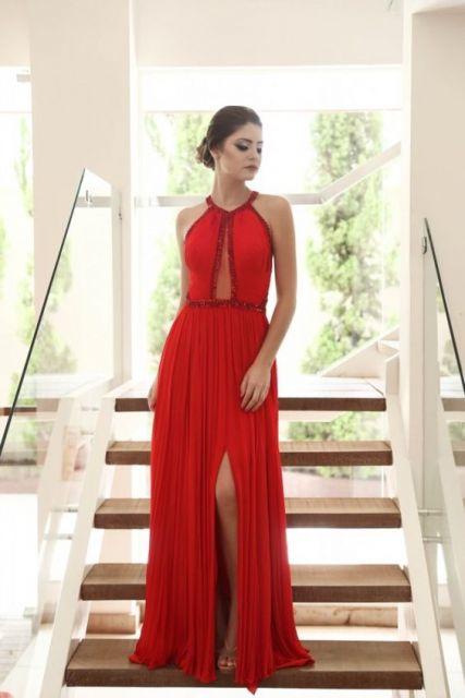 Vestidos de gala vermelho