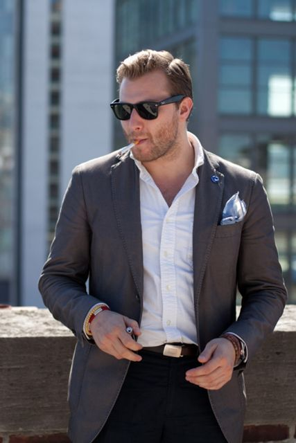 acessórios terno sem gravata