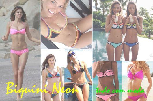 Biquíni Neon/Fluorescente: Modelos lindos para você arrasar!