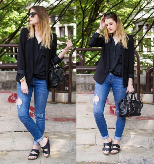 birken e jeans e blazer