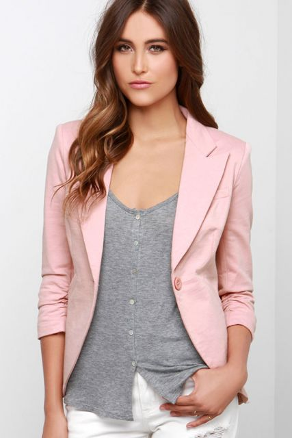 Blazer rosa: 40 modelos e looks perfeitos!