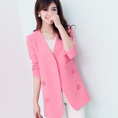 blazer rosa em look branco