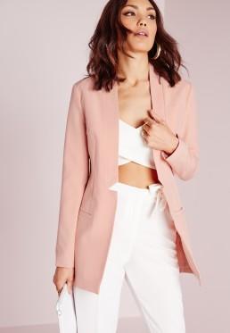 blazer rosa com top cropped