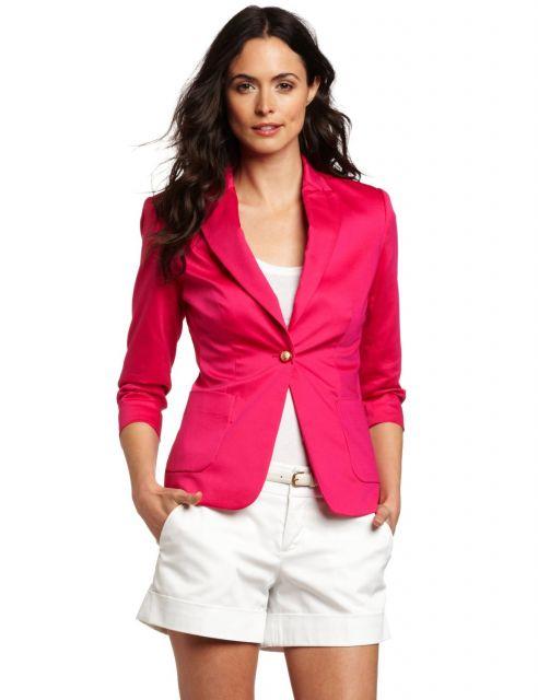 ideias para combinar blazer e short