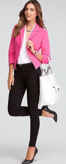 blazer rosa em looks para trabalhar