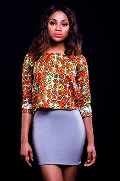 moda africana com saia justa