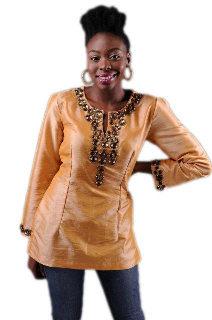 moda africana blusa manga comprida