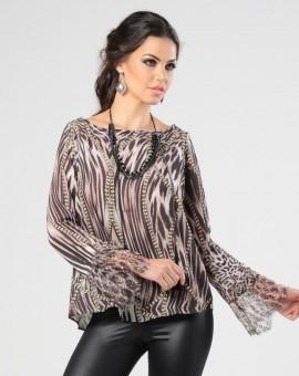blusa flare animal print como usar