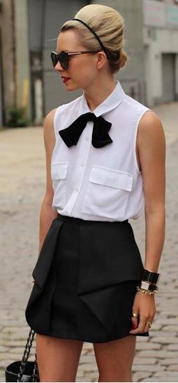 blusa gravatinha simples branca