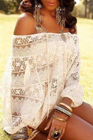 blusa branca rendada